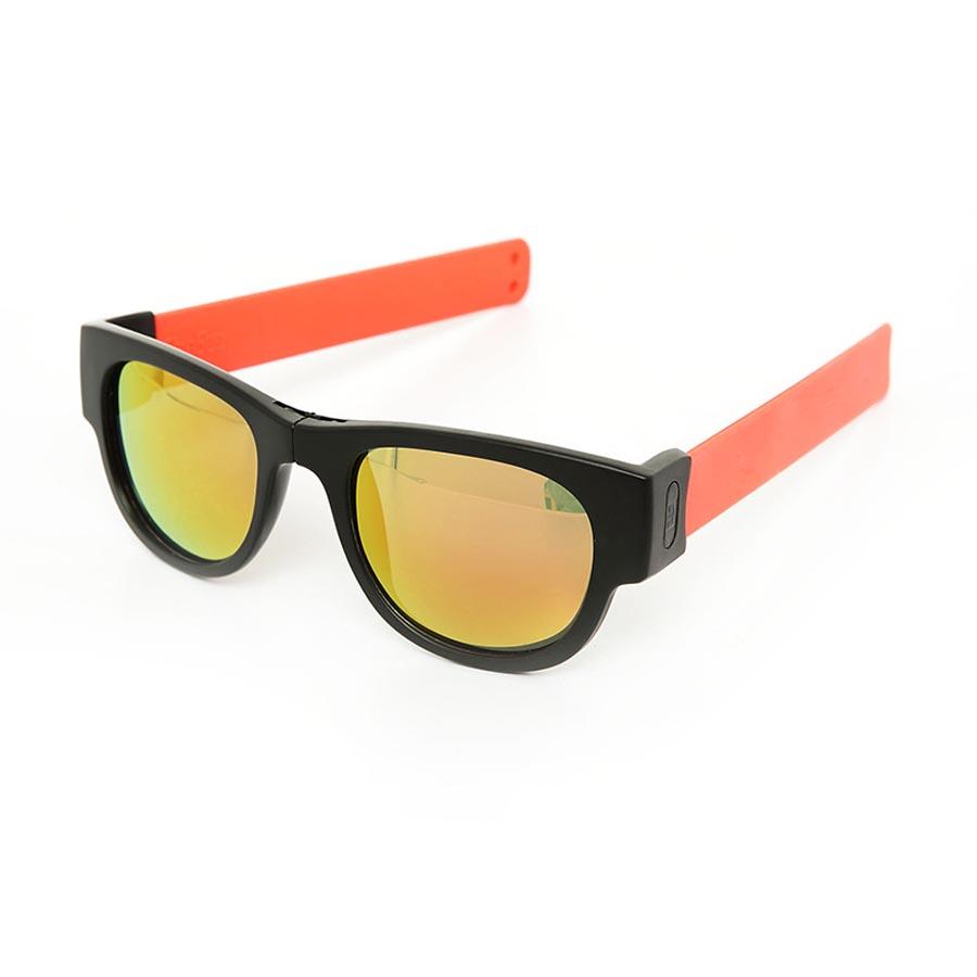 406957e8d6 SlapSee Pro Folding Wrist Slapping Sunglasses - Black Frame Coral SlapMulti  Lens - Halai Trading