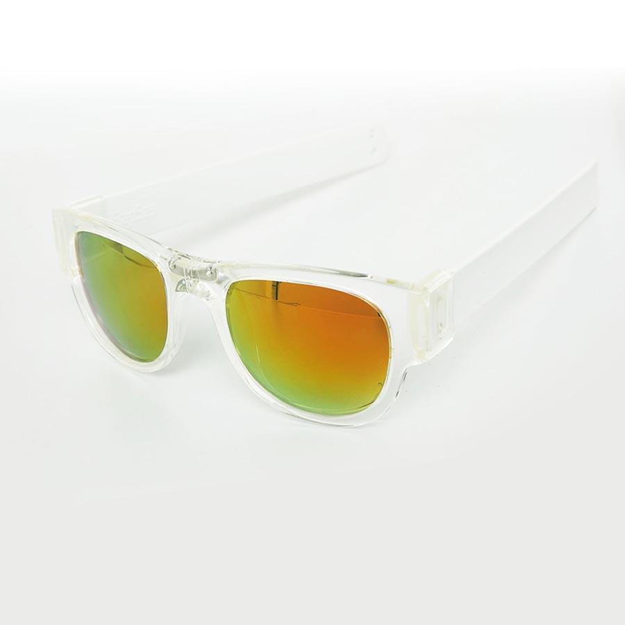 f820c38fb1 SlapSee Pro Folding Wrist Slapping Sunglasses - Clear Frame White Slap  Multi Lens - Halai Trading