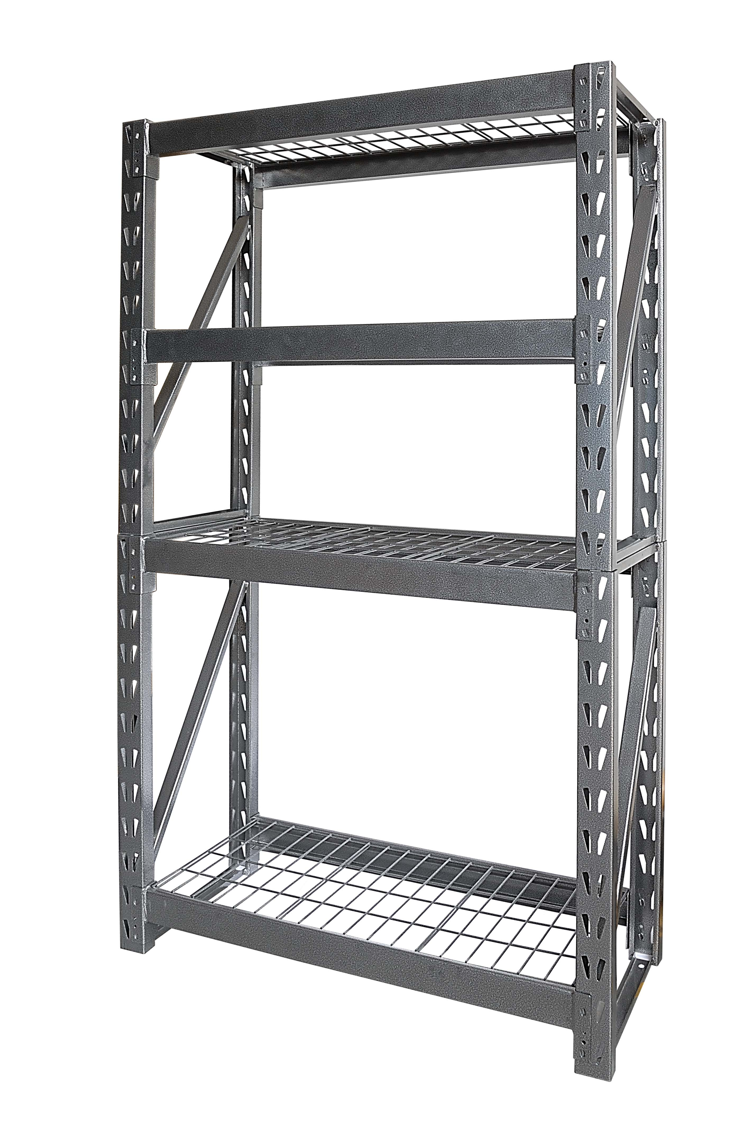 Shop Gorilla - Flexi Rack - 4 Grid Wire Shelves -104 x 43 x 183 cm ...