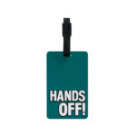 TangoTag Luggage Tag - 'Hands Off!' - Deep Green - HTC-TT817