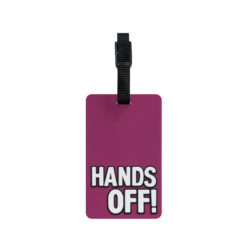 TangoTag Luggage Tag - 'Hands Off!' - Pink - HTC-TT818