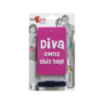 TangoTag Luggage Tag - 'Diva Owns This Bag!' - Pink - HTC-TT824