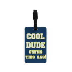 TangoTag Luggage Tag - 'Cool Dude Owns This Bag!' - Blue - HTC-TT825