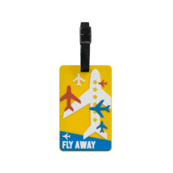 TangoTag Luggage Tag - 'Fly Away' - Yellow - HTC-TT829