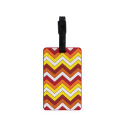 TangoTag Luggage Tag - Zigzag - Yellow & Red - HTC-TT835