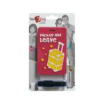 TangoTag Luggage Tag - 'Pack Up And Leave' - Red - HTC-TT832