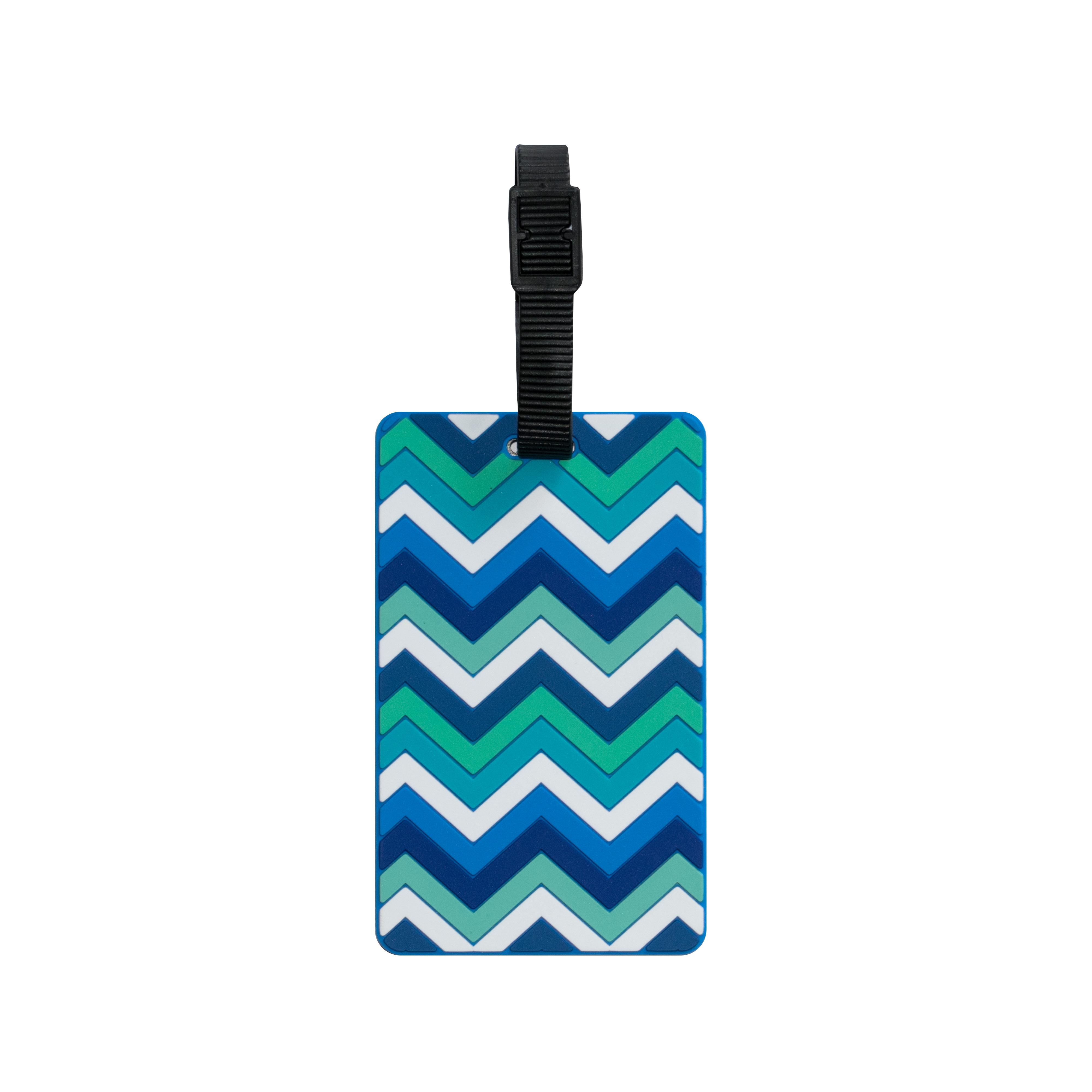 TangoTag Luggage Tag – Zigzag – Blue – HTC-TT834