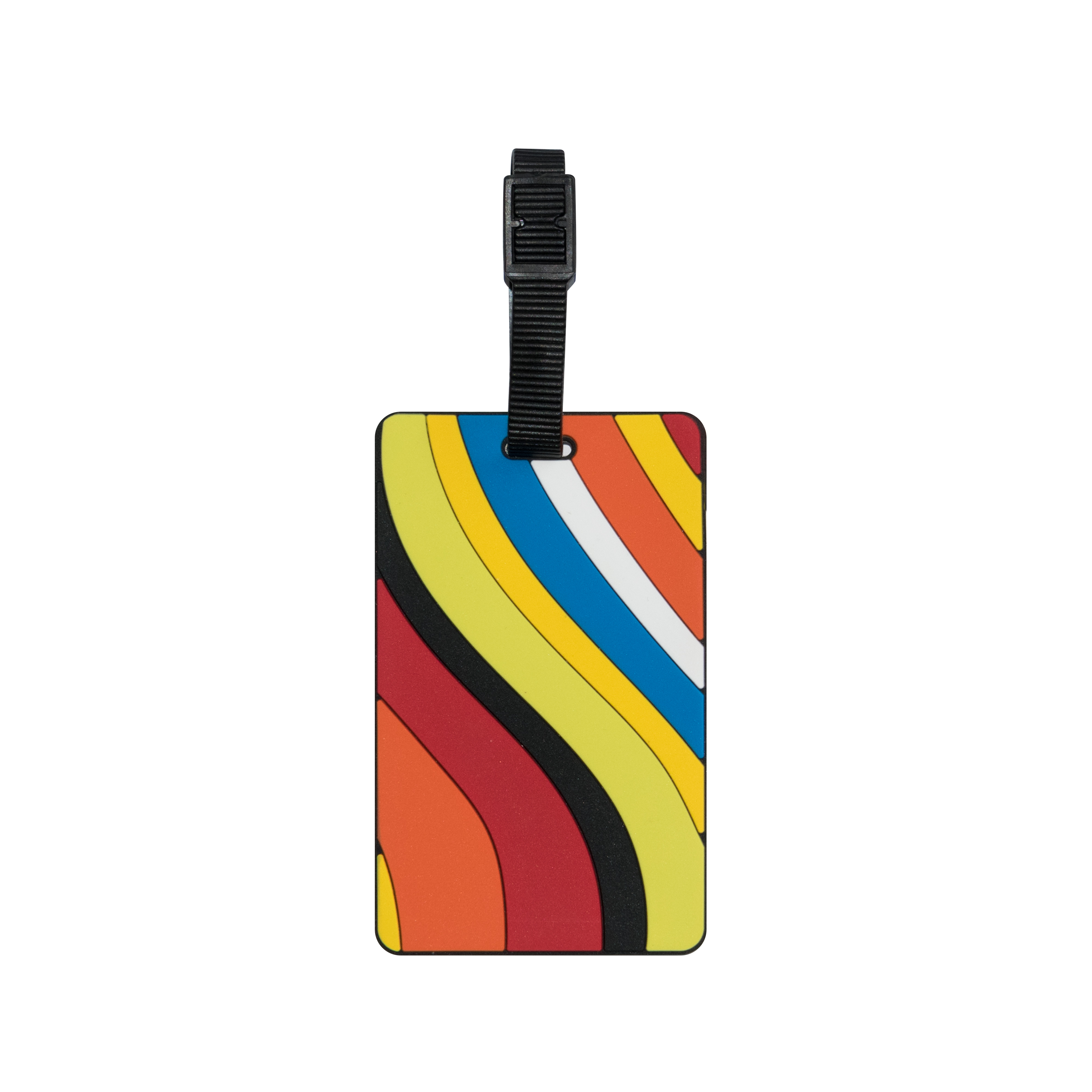 TangoTag Luggage Tag – Colourful Waves – Assorted – HTC-TT831
