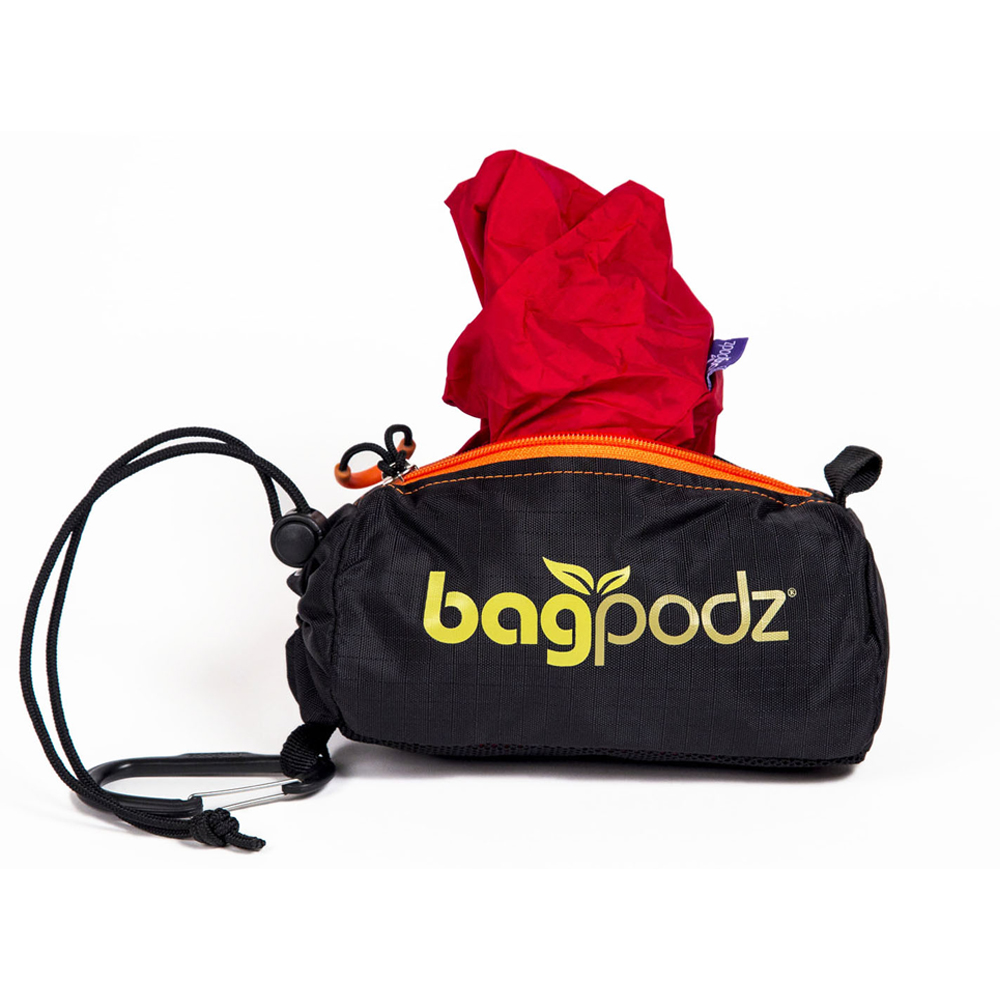 BagPodz Reusable Bag and Storage System (Contains 5 Bags) – Cayenne Red – BPZ-5P0-RED
