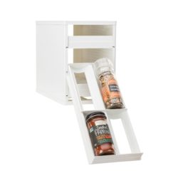 MiniStack 12-Bottle Spice and Vitamin Organizer - White - YCA-01121-01-WHT