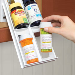 YouCopia - MiniStack 12-Bottle Spice and Vitamin Organizer - White - YCA-01121-01-WHT