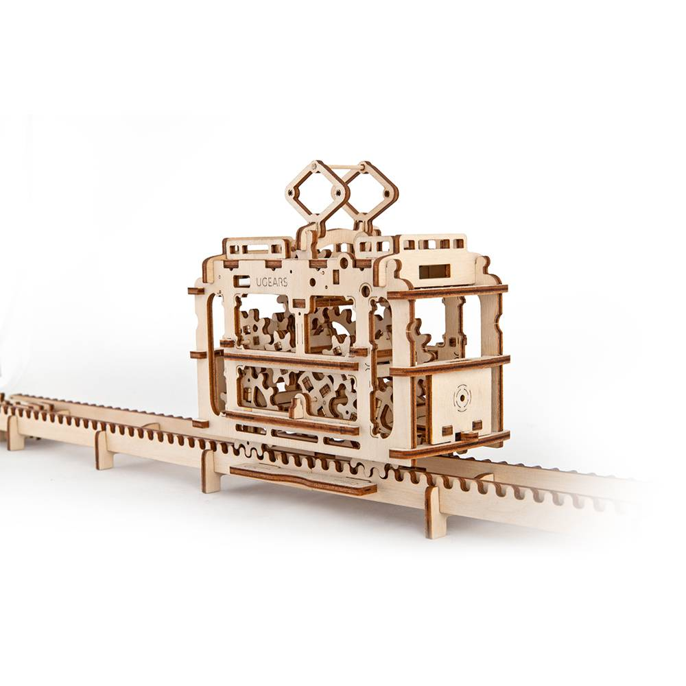 Ugears Tram With Rails – 154 Parts – 3D Wooden Puzzle – Mechanical Model – UGR-70008