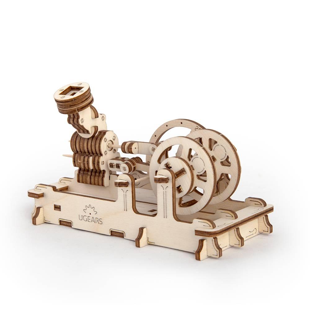 Ugears Pneumatic Engine – 81 Parts – 3D Wooden Puzzle – Mechanical Model – UGR-70009