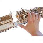 Ugears Steam Locomotive With Tender - 480 Parts - 3D Wooden Puzzle - Mechanical Model - UGR-70012