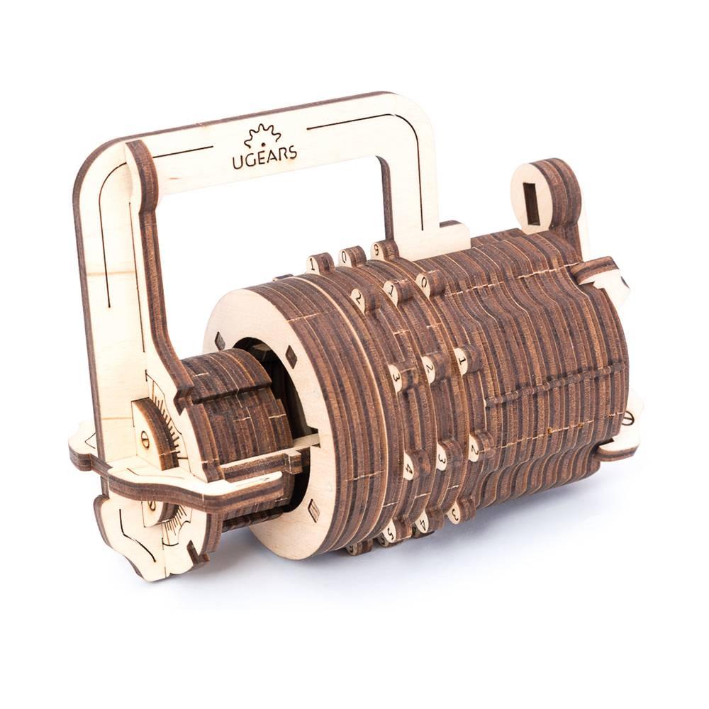Ugears Combination Lock – 34 Parts – 3D Wooden Puzzle – Mechanical Model – UGR-70020