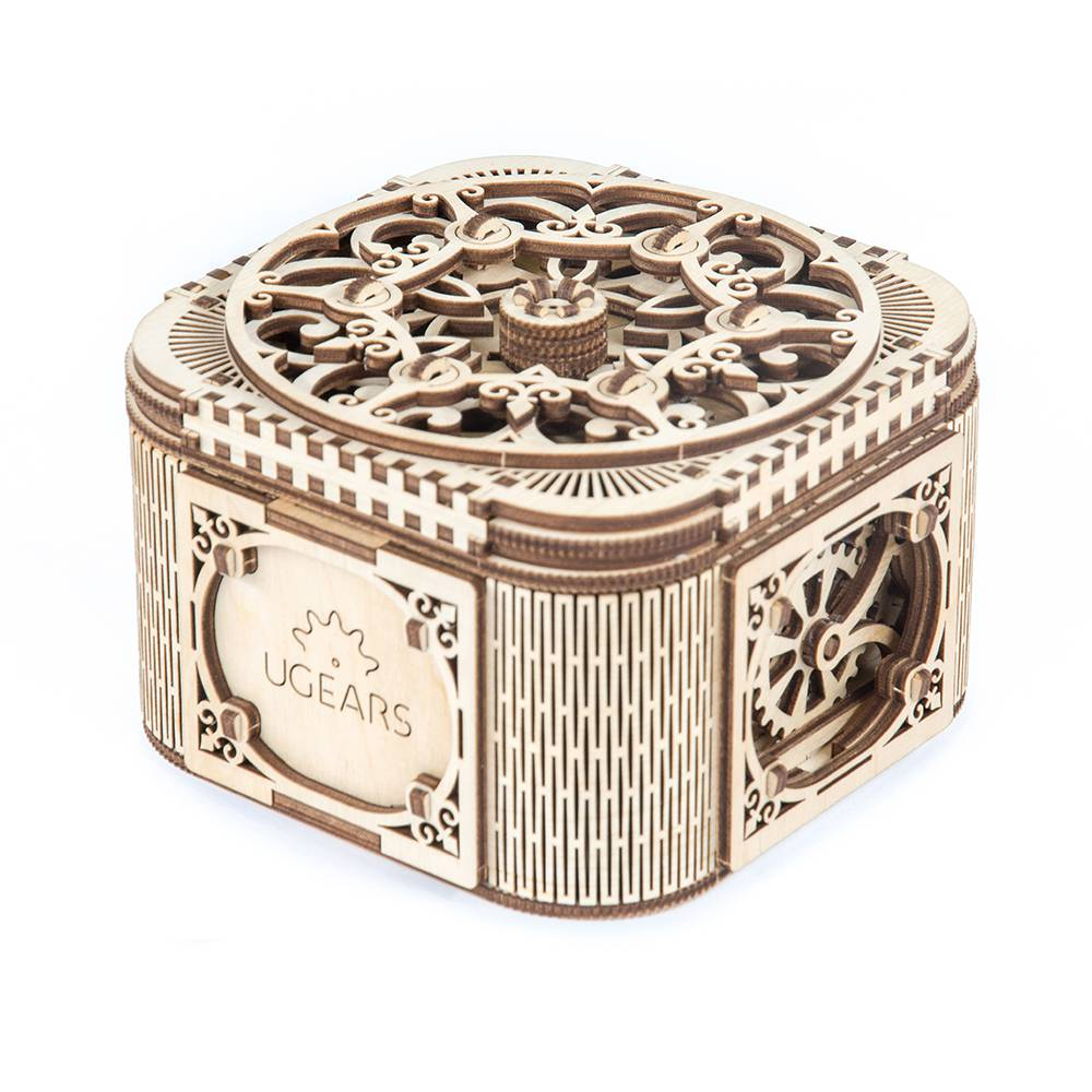 Ugears Treasure Box – 190 Parts – 3D Wooden Puzzle – Mechanical Model – UGR-70031