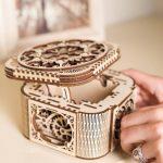 Ugears Treasure Box - 190 Parts - 3D Wooden Puzzle - Mechanical Model - UGR-70031