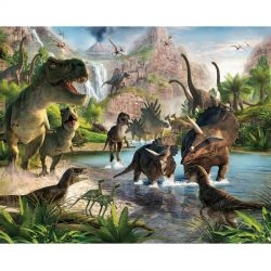 Walltastic - Dinosaur Land Wallpaper Mural - 12 Panels - 8 x 10 ft - WTC-41745
