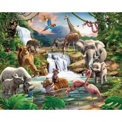 Walltastic - Jungle Adventure Wallpaper Mural - 12 Panels - 8 x 10 ft - WTC-41776