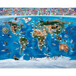 Walltastic - Map Of The World Wallpaper Mural - 12 Panels - 8 x 10 ft - WTC-41851
