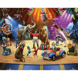 Walltastic - The Circus Wallpaper Mural - 12 Panels - 8 x 10 ft - WTC-42834