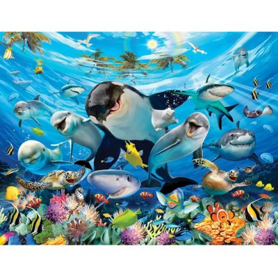 Walltastic - Sea Adventure Wallpaper Mural - 12 Panels - 8 x 10 ft - WTC-45279