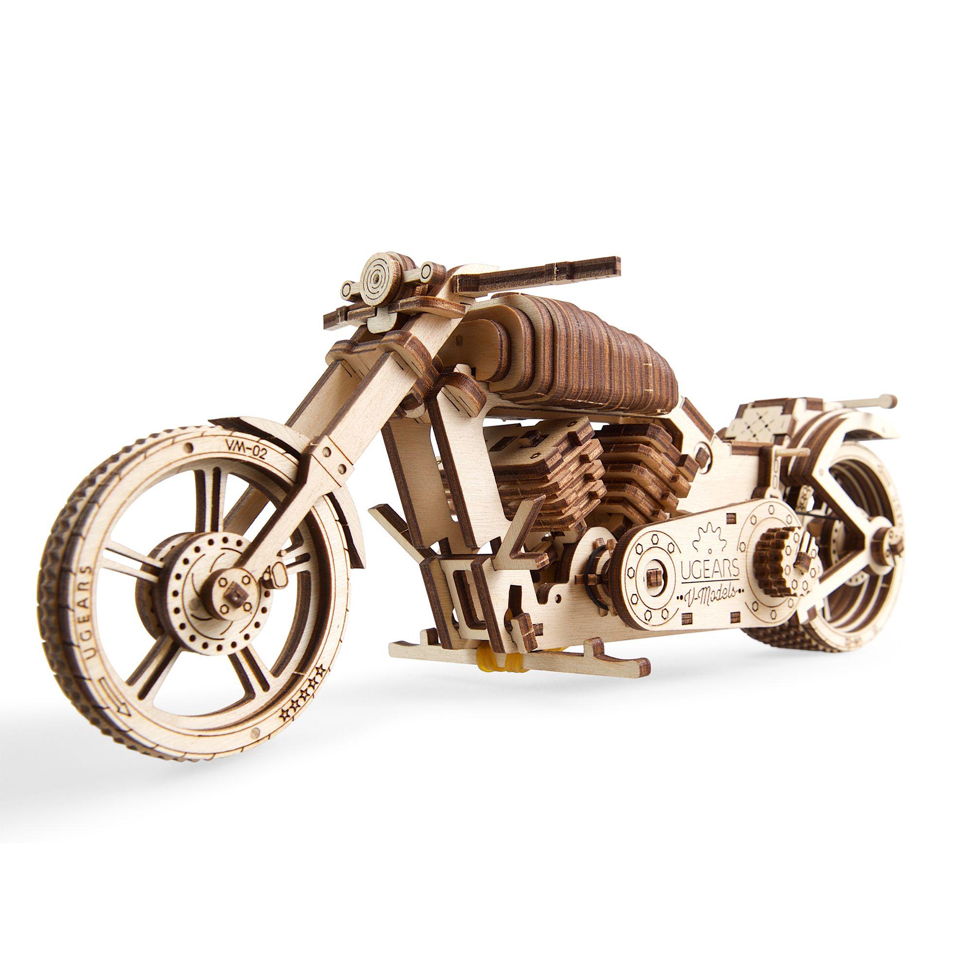 Ugears – Bike VM-02 – 189 Parts – 3D Wooden Puzzle – Mechanical Model – UGR-70051